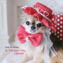 Heart roseの赤いフリルンお帽子