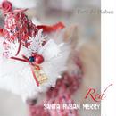 santa Ruban merry RED お帽子単品