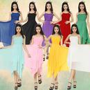 20代 カラー展開豊富シンプルで可愛いひざ丈プリーツドレス