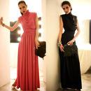 パーティードレス 結婚式 二次会 ワンピース 結婚式ドレス お呼ばれワンピース 20代 30代 40代 ロングドレス 黒 グレー 赤