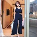 パーティードレス パンツ 結婚式 二次会 パンツドレス 結婚式ドレス お呼ばれドレス 20代 30代 40代 オールインワン ネイビー