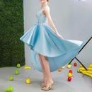 パーティードレス フィッシュテール 二次会 結婚式 披露宴 司会者 舞台衣装 花嫁 写真撮影 ミニドレス オフショルダー ショートドレス