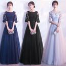 20代 上品で優しい印象の大人可愛いロング丈ドレス