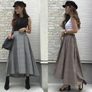 グレンチェックテールカットスカート