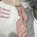 cotton100%I'amourロゴTシャツ