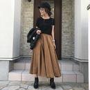 フレアデザインロングスカート