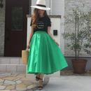 コットン100%ふんわりカラースカート