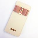 【iPhone6plus/6splus】ビジューリボン手帳型ケース