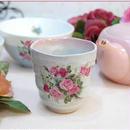 ■プラン・ド・パリ アンジェリカ 和心 湯呑み【薔薇雑貨 和食器 美濃焼 バラ柄 花柄 湯呑み タンブラー】