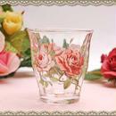 ■イングリッシュローズ ガラスタンブラー 【薔薇雑貨 コップ グラス 薔薇 ローズ 人気 】