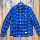 INDIGO CHECK SHIRT CRAZZY【BLUE】/ BS17AW-SH12
