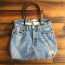 D&C DENIM TOTE BAG【IND/Leather】