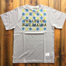 THE LIFE OF BLUE SAKURA PRINT T-SHIRT 【GRAY】/ BS-CS1-04