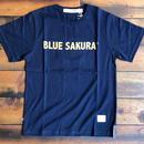 BLUE SAKURA PRINT T-SHIRT 【N-BG】/ BS-CS1-03