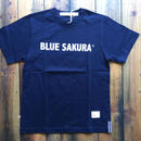 BLUE SAKURA PRINT T-SHIRT 【NAVY】/ BS-CS1-03