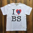 I ♡ BS PRINT T-SHIRT 【WHITE】/ BS-CS1-02