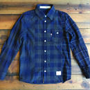INDIGO CHECK SHIRT CRAZZY【NAVY】/ BS-S2-SH02