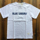 BLUE SAKURA PRINT T-SHIRT 【WHITE】/ BS-CS1-03