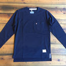 LONG SLEEVE POCKET T-SHIRT 【NAVY】/ BS-LCS3