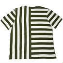 【wisdom】Striped Henry T-Shirt/ ウィズダム ストライプ ヘンリーTシャツ