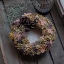 ニュアンスカラーの紫陽花リース