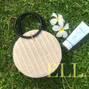 即納★Round summer bag/WHT