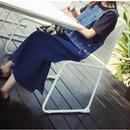 [1290op]ロングデニムジャンパースカート