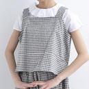 [1309tp]チェック刺繍ビスチェ