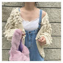 【予約商品】ponpon knit cardigan
