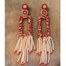 Deepa Gurnani seed bead red ピアス rectangle