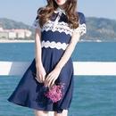 navy lace dress(No.300434)