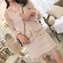 pink tweed blouse & OP(No.300512)