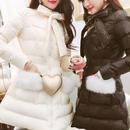 A-line pocket fur down coat(No.300546)