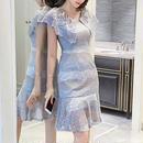 Vintage blue lace long OP(No.300375)