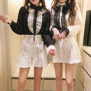 french frill blouse & skirt(No.300509)