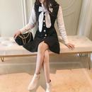 chic ribbon blouse & OP(No.300517)