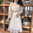 Dot & Pearl lace long dress (No.300290)