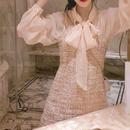 pink blouse & tweed OP(No.300485)
