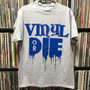 VINYL OR DIE T-SHIRT (Grey-Blue)