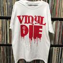 VINYL OR DIE T-SHIRT (White-Red)
