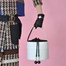 EUDON CHOI / MIRROR BUCKET BAG / WHITE