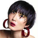 shiki / HOOP PIECES EARRINGS / RED