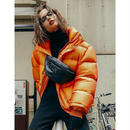 PERVERZE / WRINKLE WIDE DOWN COAT / ORANGE