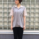 【galvanize】Lyocell Bowling Shirt ボーリングシャツ(グレー×ピンク)