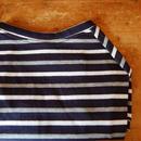 マルチボーダーシャツ(ネイビー×ホワイトグレー)