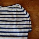 バスクボーダーシャツ(オフホワイト×ブルー)