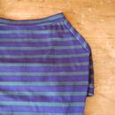 バスクボーダーシャツ(ネイビー×グリーン)