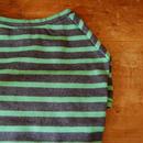 バスクボーダーシャツ(杢グレー×ライトグリーン)