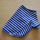 バスクボーダーシャツ(ブルー×オフホワイト)