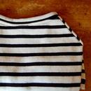 バスクボーダーシャツ(オフホワイト×ブラック)
